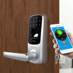 Bluetooth Enabled Fingerprint & Touchscreen Keyless Smart Do
