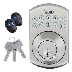 Electronic Deadbolt Door Lock Stainless Steel with Remote Co